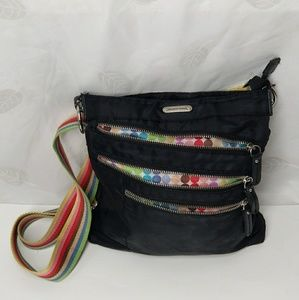 Black nylon Crossbody body messenger bag